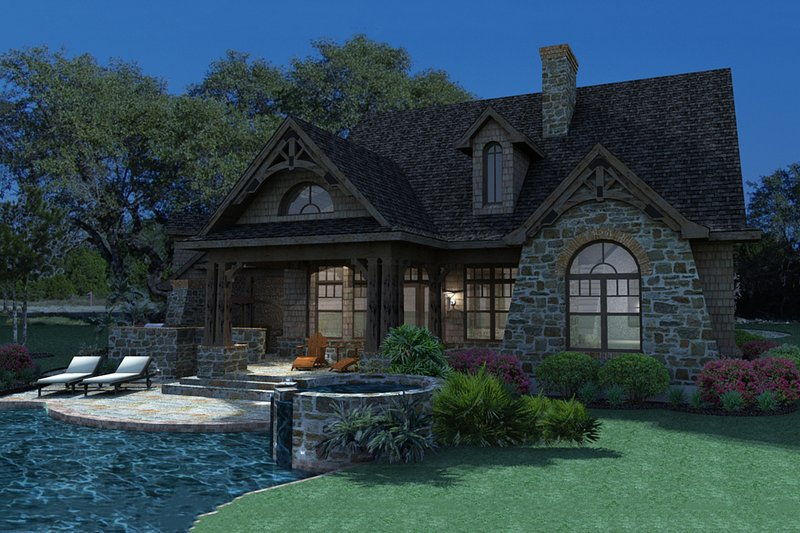 Craftsman Exterior - Rear Elevation Plan #120-168 - Houseplans.com