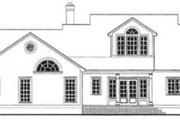 Farmhouse Style House Plan - 3 Beds 2 Baths 1551 Sq/Ft Plan #406-236 Exterior - Rear Elevation