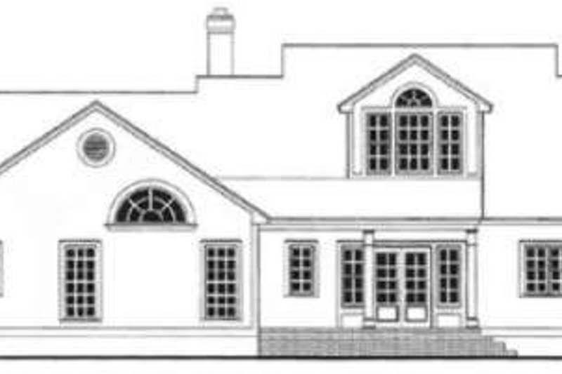 Farmhouse Exterior - Rear Elevation Plan #406-236 - Houseplans.com