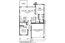 Craftsman Floor Plan - Main Floor Plan Plan #70-1259