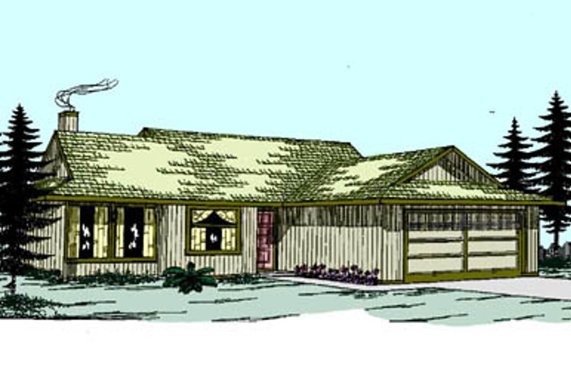 Ranch Exterior - Front Elevation Plan #60-109