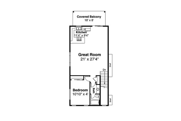 Architectural House Design - Country Floor Plan - Upper Floor Plan #124-1178