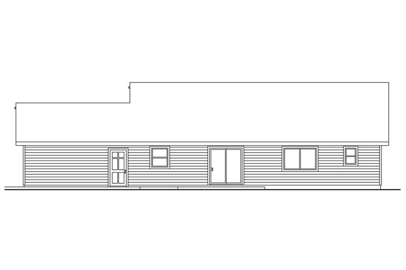 Craftsman Exterior - Rear Elevation Plan #124-695 - Houseplans.com