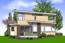Contemporary Exterior - Rear Elevation Plan #48-692