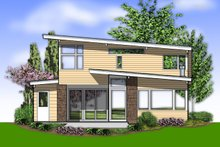 House Plan Design - Contemporary Exterior - Rear Elevation Plan #48-692