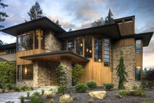Modern prairie style home by Washington State designer with big beautiful master suite
