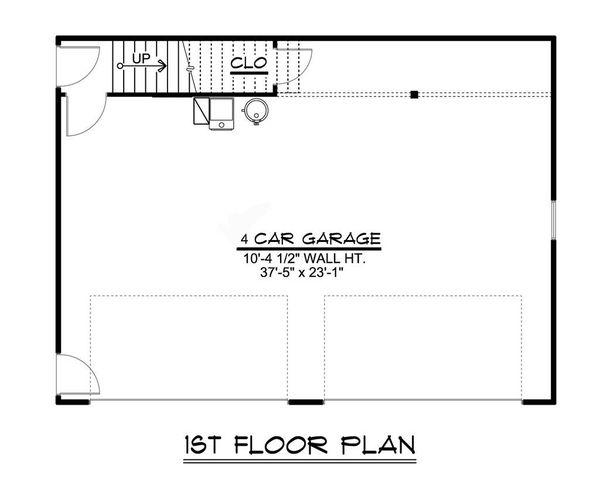 Country Floor Plan - Main Floor Plan #1064-75