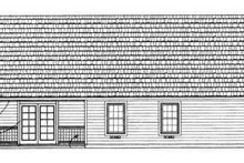 House Design - Traditional Exterior - Rear Elevation Plan #72-102