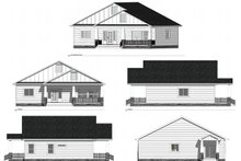 Architectural House Design - Farmhouse Exterior - Other Elevation Plan #1077-5
