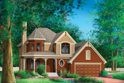 Victorian Style House Plan - 3 Beds 1 Baths 1624 Sq/Ft Plan #25-4671 Exterior - Front Elevation