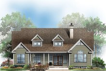 Architectural House Design - Country Exterior - Rear Elevation Plan #929-674