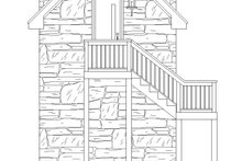 Country Exterior - Rear Elevation Plan #932-302