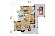 Cottage Style House Plan - 4 Beds 2 Baths 2196 Sq/Ft Plan #25-4485 Floor Plan - Main Floor