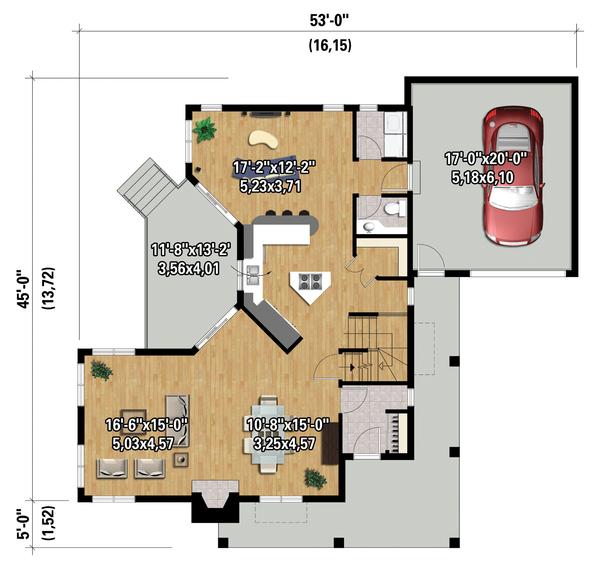 Cottage Floor Plan - Main Floor Plan Plan #25-4485
