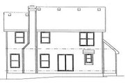 Traditional Style House Plan - 4 Beds 2.5 Baths 1844 Sq/Ft Plan #20-580 Exterior - Rear Elevation
