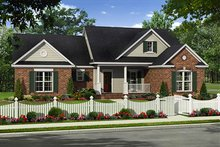 Country Exterior - Front Elevation Plan #21-319