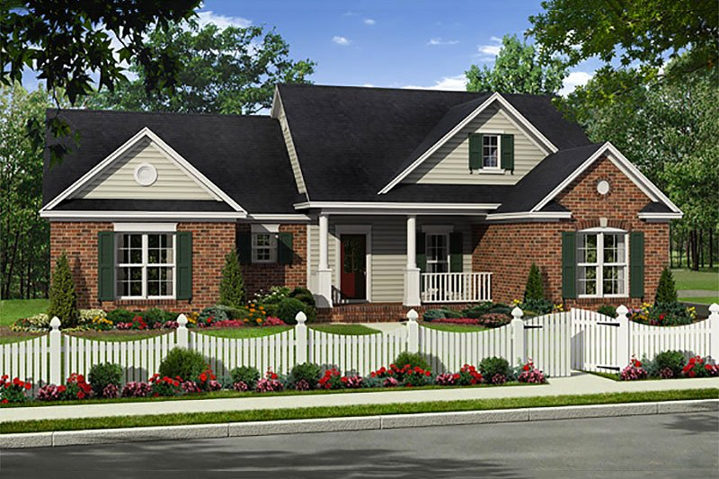 Dream House Plan - Country Exterior - Front Elevation Plan #21-319