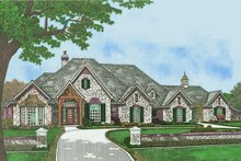 European Exterior - Front Elevation Plan #310-1305