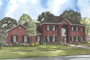 Colonial Exterior - Front Elevation Plan #17-2090