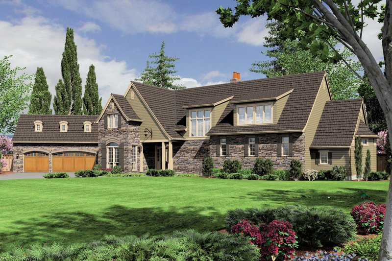 Dream House Plan - Craftsman Exterior - Front Elevation Plan #48-622