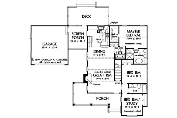 Home Plan - With Basement Stair Location