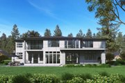 Contemporary Style House Plan - 5 Beds 4.5 Baths 5195 Sq/Ft Plan #1066-73 Exterior - Rear Elevation