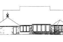 Southern Exterior - Rear Elevation Plan #310-616