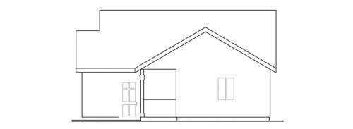 Traditional Exterior - Other Elevation Plan #124-656 - Houseplans.com