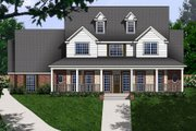 Country Style House Plan - 5 Beds 4 Baths 3914 Sq/Ft Plan #62-133 Exterior - Front Elevation