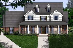 Country Exterior - Front Elevation Plan #62-133