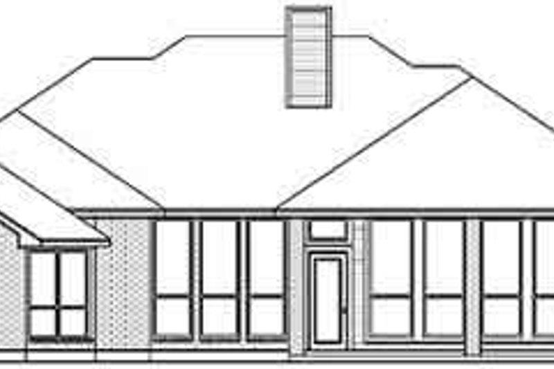 Traditional Exterior - Rear Elevation Plan #84-195 - Houseplans.com