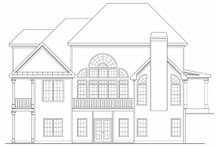 Dream House Plan - Traditional Exterior - Rear Elevation Plan #419-171