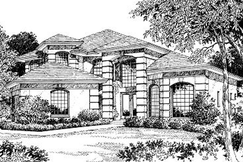 European Style House Plan - 3 Beds 2.5 Baths 2800 Sq/Ft Plan #417-336 Exterior - Front Elevation