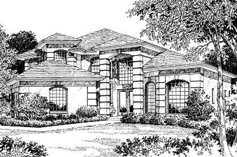 European Style House Plan - 3 Beds 2.5 Baths 2800 Sq/Ft Plan #417-336