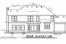 House Plan Design - Craftsman Exterior - Rear Elevation Plan #20-2366