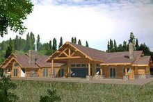 Dream House Plan - Traditional Exterior - Rear Elevation Plan #117-353