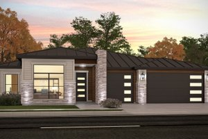 Modern Exterior - Front Elevation Plan #1073-27