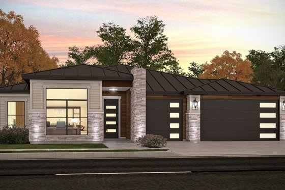 Modern Exterior - Front Elevation Plan #1073-27