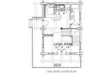 Log Floor Plan - Main Floor Plan Plan #117-107