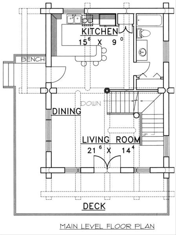 Log Floor Plan - Main Floor Plan Plan #117-107