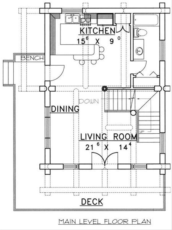Log Floor Plan - Main Floor Plan #117-107