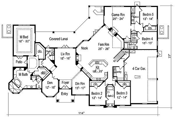 European Floor Plan - Main Floor Plan Plan #417-435