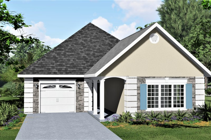 Architectural House Design - European Exterior - Front Elevation Plan #44-132