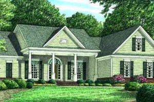Home Plan - Southern Exterior - Front Elevation Plan #34-159