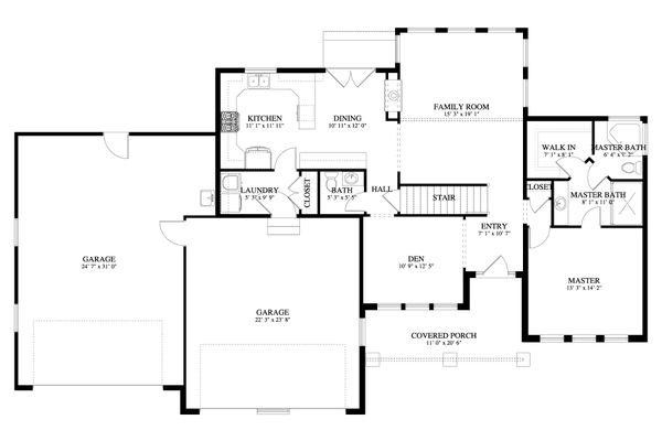 Dream House Plan - Traditional Floor Plan - Main Floor Plan #1060-62