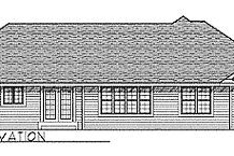 Traditional Exterior - Rear Elevation Plan #70-241 - Houseplans.com