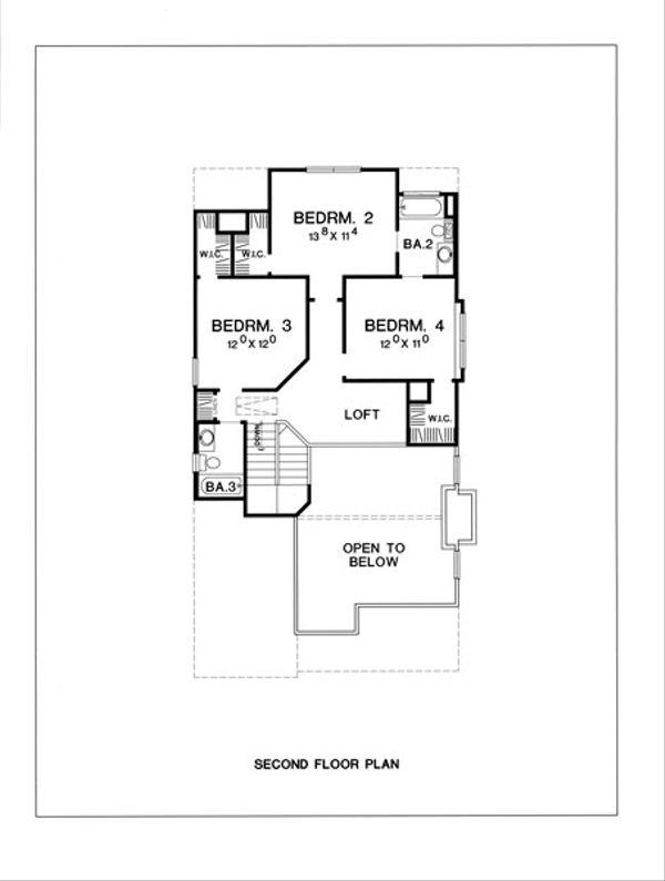 Cottage Floor Plan - Upper Floor Plan #472-9