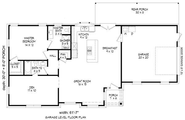 Traditional Floor Plan - Main Floor Plan Plan #932-306