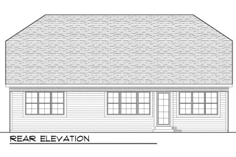 Traditional Exterior - Rear Elevation Plan #70-947 - Houseplans.com