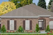 Traditional Style House Plan - 3 Beds 2 Baths 2025 Sq/Ft Plan #63-143 Exterior - Front Elevation